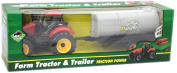 Plastic Friction Farm Tractor With Trailer Farmyard Toy Playset ~ Tanker