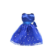 Fashion Sequins Sleeveless Party Dress for 46cm AG American Girl Dolls Blue