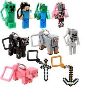 J!NX Minecraft Toy Action Figure Hanger Set Kingfansion (7.6cm 10-Piece) Series 1