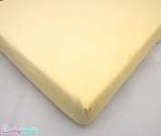 Waterproof Terry Towelling Fitted Sheet Mattress Protector, To Fit Cot Mattress 120x60cm - YELLOW