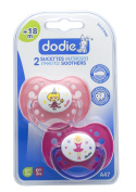 Dodie 2024766 Dummy with Silicone Mouth Shield and Ring No. 47 2-Pack Ages 18 Months Plus