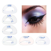 JaneDream 6pcs Cat Eye Stencils Eye Liner Eyeliner Card Makeup Tools Eye Shadow Stencils Tool Eyeshadow Cateye