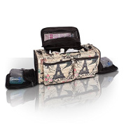 Roo Beauty Bags, Beautcians and Manicurist Makeup Tool Bag, Professional Cosmetics Case in Bellaroo Design - Paris Print