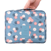 HiDay Floral Print Cosmetic Makeup Bag Travel Toiletry Organiser - 5 Compartments