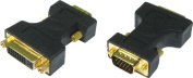 kenable SVGA 15 Pin Male to DVI-A Female Socket Adapter GOLD