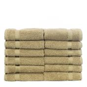 Chakir Turkish Linens Turkish Cotton Luxury Hotel & Spa Bath Towel, Wash Cloth - Set of 12, Driftwood