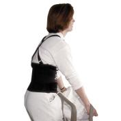 "Impact Standard Back Support, 18cm "" Back Panel, Single Closure, Suspenders, Medium, Black"