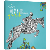 """Tree-Free Greetings 85820 29cm x 29cm """"Obstacle Opportunity"""" Themed Vibrant Art EcoArt Home Decor Wall Plaque"""