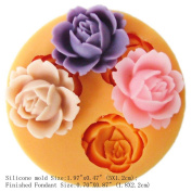 YL 1.8cm Mini Flower Y101 Silicone Sugar Resin Craft DIY Moulds DIY gum paste flowers Cake Decorating Fondant Mould
