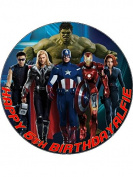 7.5 Avengers Edible Icing Birthday Cake Topper Superhero