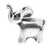 Silver Elephant Animal Charm Beads For Pandora Style Bracelets