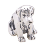 Sitting Dog Charm Bead - 925 Sterling Silver - fits most European bracelets inc