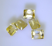 Citrine loose gemstones 1 Pieces 8 x 10 mm Emerald cut Yellow faceted Gemstone