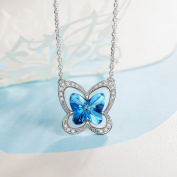 LADY COLOUR - Butterfly Charm - Necklace for Women with Crystals from ® - The Nature collections