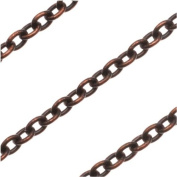 Vintaj Natural Brass 3x2.5mm Extra Fine Cable Chain - Sold By The Foot