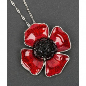 Poppy Remembrance Necklace Pendant Jewellery Equilibrium Collection