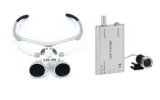 Newest Dental Surgical Binocular Loupes 3.5 x 420mm + LED Dental Head Light lamp