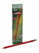 Dixon Ticonderoga Erasable Checking Pencils, Eraser Tipped, Pre-Sharpened, Pack of 12, Red