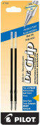 Pilot Dr. Grip Ballpoint Ink Refill, 2-Pack for Retractable Pens, Medium Point, Blue Ink