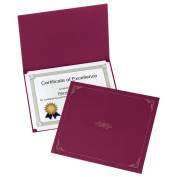 Oxford Certificate Holders, Letter Size, Burgundy, 5 per Pack