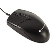 Innovera Mid-Size Optical Mouse with 3 Buttons, Black