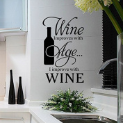 Aiwall 9363 Cafe Dining Room Wall Stickers Wine improves with age For Living Room DIY Home Decorations Wall Decals Kitchen