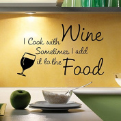 Aiwall 9378 Cafe Dining Room Wall Stickers Food and Wine For Living Room DIY Home Decorations Wall Decals Kitchen
