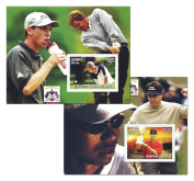 Ryder Cup The Belfry golf stamp set with 2 mint never hinged sheets - 2002 - Somalia