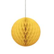 20cm Yellow Tissue Paper Honeycomb Ball