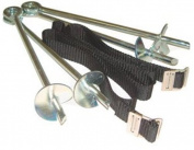 Heavy Duty Galvanised Trampoline Anchor Peg Kit Trampoline Tie Down Kit to Secure Outdoor Trampolines