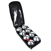 Vivo © 8pc Steel French Boules Set Petanque Balls Garden Game Free Carry Case NEW Fun Outdoor Summer Camping