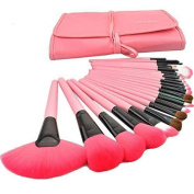 Kisstyle 24 Pcs Professional Cosmetic Makeup Brush Set with Synthetic Leather Case_Pink by Kisstyle