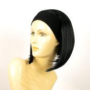 Headband Wig Women Short Smooth BLACK Ref DOROTHEE 1B
