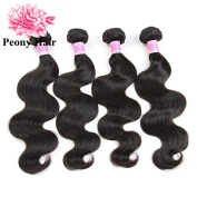 Peony Hair 8A Grade Brazilian Body Wave hair 4 bundles Remy Human Hair extension Uprocessed Virgin Hair Natural Colour