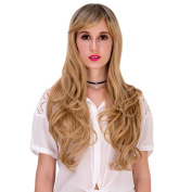 Women Wig Colour Gradient Lolita Anime Curly Wavy Hair Heat Resistant Cosplay
