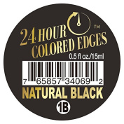 Ebin 24 Hour Coloured Edges .150ml Natural Black