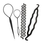 4pcs Women Girls Hair Styling Clip Stick Bun Maker Braid Tool
