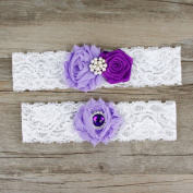 Rimobul Rose Wedding Bridal Garters with Toss Away - Set of 2
