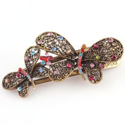 AMA(TM) Women Retro Double Butterfly Crystal Rhinestone Hair Clips Hairpins Hair Barrette Clip Beauty Tools Jewellery