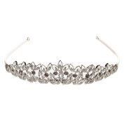 Blue Banana Crystal Leaf Tiara