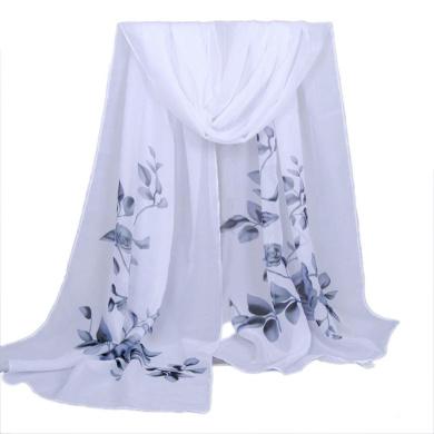 Datework Women Long Soft Wrap Shawl Chiffon Scarf (Grey)