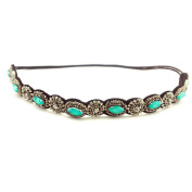 Fashion Retro Style Women HairBand Crystal Rhinestone Grey Beads Headband Hair Band
