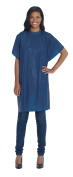 Diane Shampoo Cape 90cm x 140cm with hook and loop in Navy