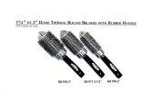 5.1cm - 7.6cm Dome Thermal Round Brushes with Rubber Handle