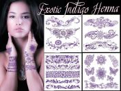Exotic Indigo Henna Tattoo Art