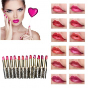 DDLBiz® 12pcs/lot Lipsticks Lip Stain Makeup Lot Leopard Moisturising Lip Stick Set