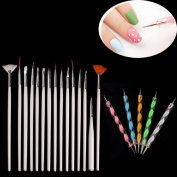 Kinghard 20PCS Nail Art Design Dotting Painting Drawing Polish Brush Pen Tools