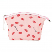 Micom Waterproof Sexy Lips Zipper Cosmetic Bag Large Makeup Pouch for Women,girls