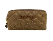 Jacki Design Outdoor Travel Bella Donna Cosmetic Bag w/ Double Zipper Brown