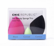 NEW TRIO Pro Beauty Sponge Blender Set to blend, conceal, contour and highlight for a flawless, makeup application, plus eco friendly, latex-free and hypoallergenic!